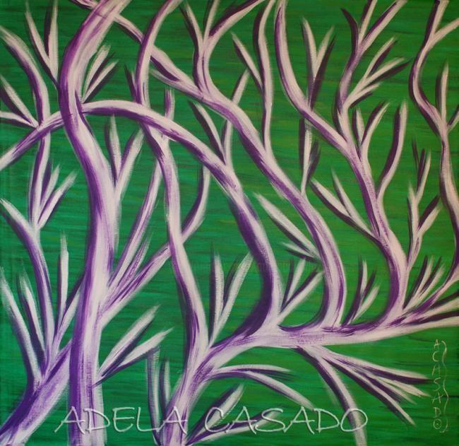 Adela Casado - RAMAS VIOLETAS / Branches violets